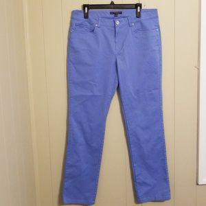 Brooks Brothers Natalie Fit Blue Capris Size 12